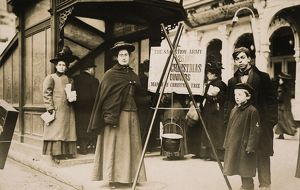 SALVATION ARMY, 1908. Salvation Army volunteers collecting money for Christmas dinners