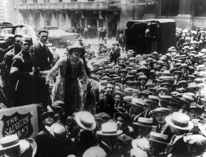 SALVATION ARMY, c1920. American actress Martha Mansfield selling donuts in New York