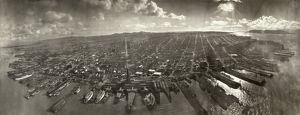SAN FRANCISCO EARTHQUAKE. Aerial view of the destruction from Lawrence Captive Airship