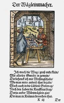 SCALE MAKER, 1568. Woodcut, 1568, by Jost Amman