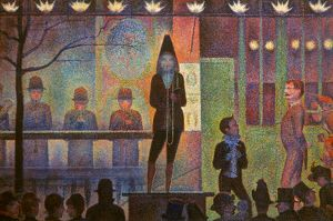 SEURAT: LA PARADE. Georges Seurat: la Parage. Canvas, 1887-88.