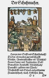 SHOEMAKERS, 1568. Woodcut by Jost Amman, 1568
