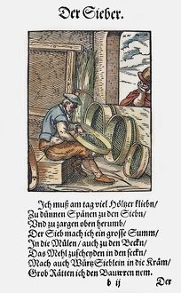SIEVE MAKER, 1568. Woodcut, 1568, by Jost Amman