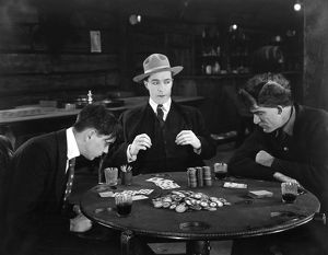 SILENT FILM STILL: GAMBLING.