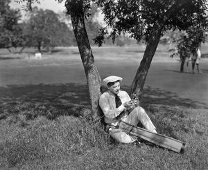SILENT FILM STILL: GOLF