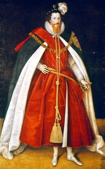 SIR ROBERT DEVEREUX (1566-1601). 2nd Earl of Essex. English soldier and courtier