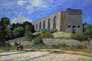 SISLEY: AQUEDUCT AT MARLY. Oil on canvas, Alfred Sisley, 1874