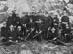 SPANISH-AMERICAN WAR, 1898. Cornell University members of the First Regiment of