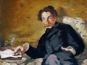 STEPHANE MALLARME. (1842-1898). French poet. Oil on canvas, 1876, by Edouard Manet.