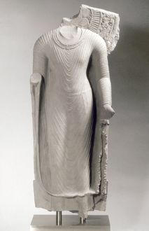 Stone Buddha from India, Gupta period, 5th century A.D.