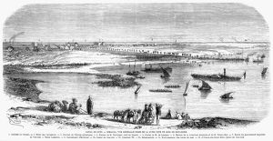SUEZ CANAL: ISMAILIA, 1869. The town of Ismalia, founded 1863 by Ferdinand Lesseps