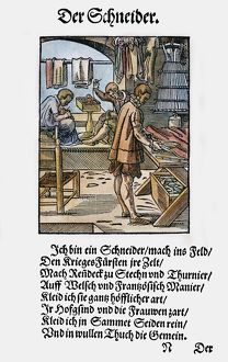 TAILOR, 1568. Woodcut, 1568, by Jost Amman