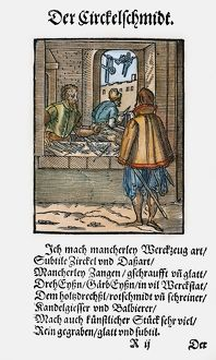 TOOLMAKER'S SHOP, 1568. Woodcut, 1568, by Jost Amman