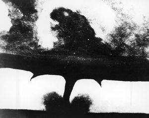 TORNADO, 1884. The first known photograph of a tornado, taken in South Dakota