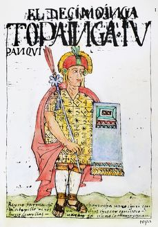 TUPAC YUPANQUI (d.1493). Tenth Inca ruler of Peru