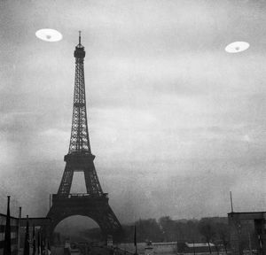 UFO: PARIS. Photograph of UFOs in Paris, France