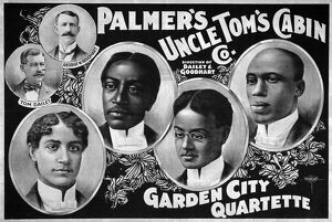 UNCLE TOM'S CABIN COMPANY. Lithograph poster for Palmer's Uncle Tom's