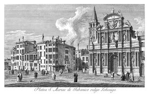 VENICE: CHURCH, 1735. Santa Maria Zobenigo in Venice, Italy, also known as Santa
