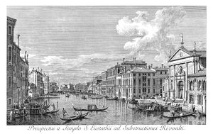 VENICE: GRAND CANAL, 1735. The Grand Canal in Venice, Italy, looking south-east