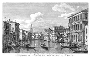 VENICE: GRAND CANAL, 1735. The Grand Canal in Venice, Italy, looking northwest