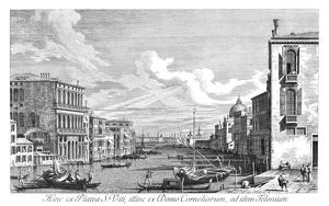 VENICE: GRAND CANAL, 1735. The Grand Canal in Venice, Italy looking east from Campo