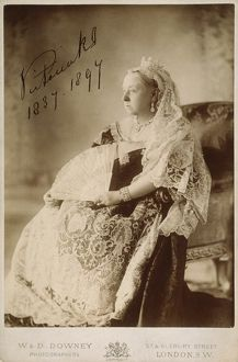 VICTORIA OF ENGLAND (1819-1901). Photographed in 1897