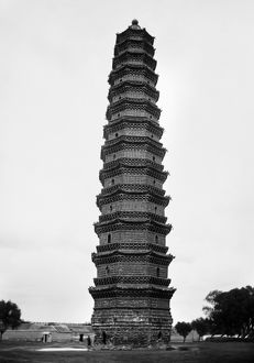 A view of the Iron Pagoda, built in the mid-11th century, at the Youguo monastery in Kaifeng, China