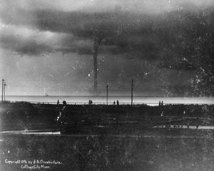 WATERSPOUT, 1896. A waterspout over Vineyard Sound at Martha's Vineyard, Massachusetts