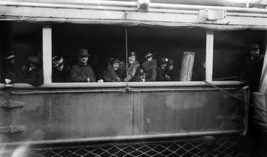 WORLD WAR I: LUSITANIA. Passengers on the Cunard steamship 'Lusitania,' first