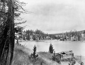 WYOMING: LOG CABIN, c1913. Army General Oliver O