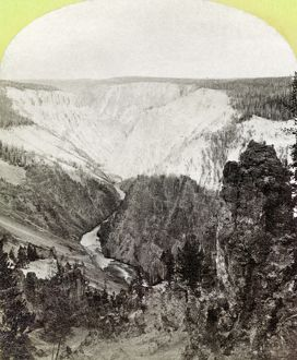 YELLOWSTONE: CANYON, 1871. A view of the Grand Canyon of the Yellowstone River, Wyoming